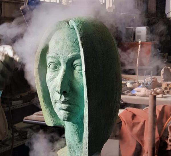 Pàtines en fred per a escultura
