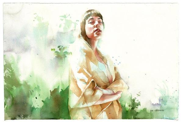 Portrait workshop in watercolor by Ale Casanova