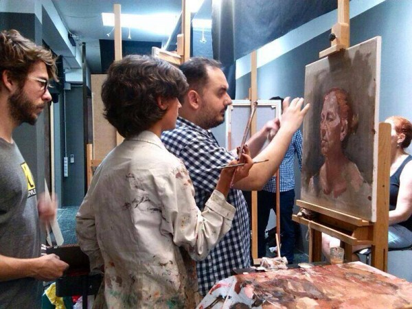 Workshop de pintura con Ismael Fuentes