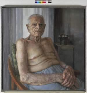 'L´avi', Carlos Asensio Sanagustín ( Óleo sobre lienzo, 100x100 )