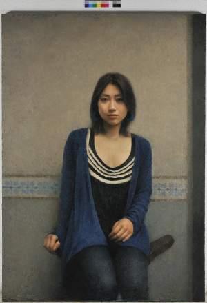 'La chica del pendiente azul', Akihito Asano ( Mixta sobre lienzo, 162 x 114 )