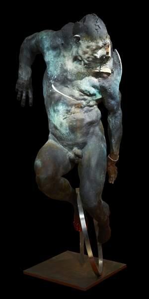 'Cyclist', Grzegorz Gwiazda ( Bronze, 185 x 80 x 70 )