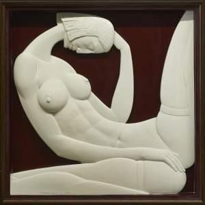 'Sueño', Wiaczeslaw Borecki ( Yeso, 83 x 83 x 7 cm )