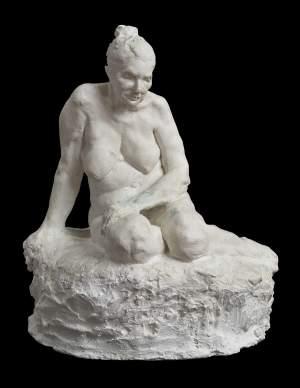 'Sundown, homàge to Joseph Clarà', Newton Batista de Santana Junior ( Plaster, 39 x 41 x 23 cm )