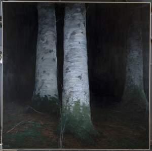 'A les portes del bosc', Antonio Cerrato Rincón ( Oli sobre llenç, 180 x 180 )