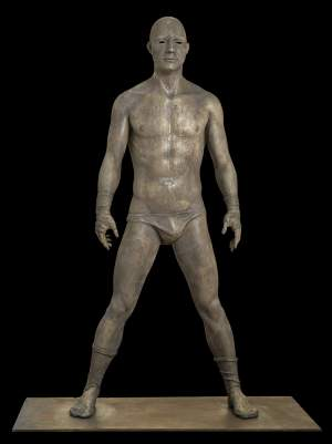 'Hector XV', Manuel Mediavilla Crespo ( Bronze and iron, 45 x 15 x 83 cm )
