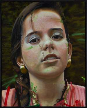 'Neighborhood's Princess #2', Alejandro Carpintero ( Oil on canvas, 162 x 114 cm )