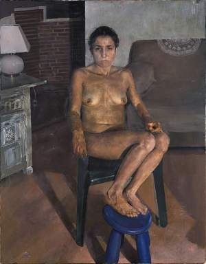 'Seated woman', Jorge Abbad Jaime de Aragón Córdoba ( Oil on canvas, 114 x 146 cm )
