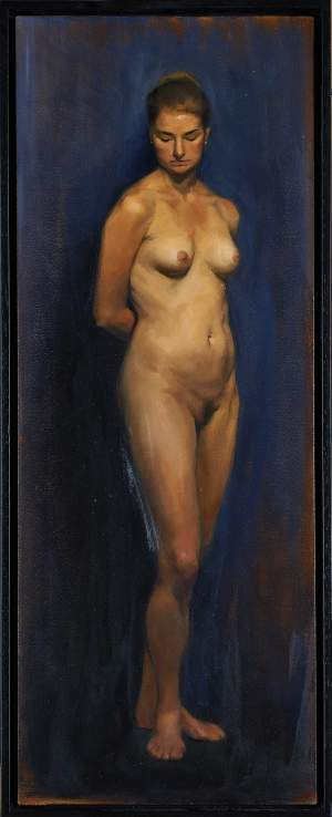 'Kiara', Lizet Dingemans ( Oil on canvas, 100 x 30 cm )