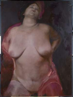 'Fuori è sera', Alessio Bogani ( Mixta sobre tela, 188 x 140 )
