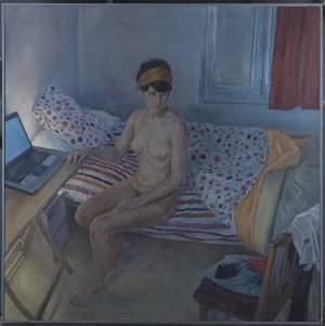 'Ya es la hora', Ricardo González García          ( Óleo sobre lienzo, 150 x 150 )