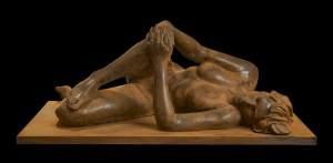 'Silvia', Adrià Arnau ( Terracota, 110 x 42 x 60 cm )