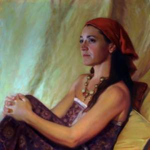 'Scheherazade', Luis Álvarez Roure ( Oil on canvas, 60 x 60 cm )