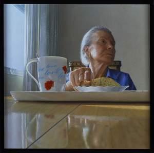 'En busca de la memoria', Aurelio Rodríguez López ( Pastel on board, 80 x 80 cm )