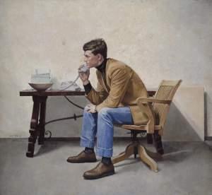 'Mi hermano', Alvaro Toledo ( Óleo sobre tabla, 170 x 185 )