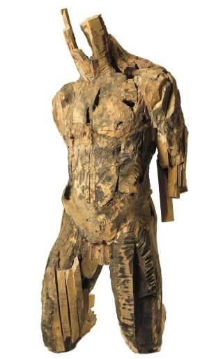 'Estudio para torso', Antonio Santin Benito ( Madera, 120 x 100 x 60 )