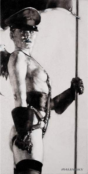 'I hoist the flag of my posturing queen', Charles Malinsky ( Óleo sobre lienzo, 60 x 30 )