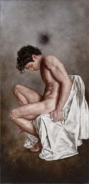 'Atlante', Giorgio Dante ( Óleo sobre tela, 85 X 180 CM )