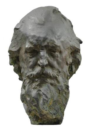 'Portrait of the old man', Grzegorz Gwiazda ( Bronze, 50 x 35 x 30 )