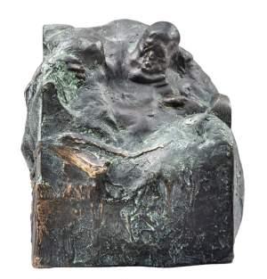 'Racionalista', Grzegorz Gwiazda ( Bronce, 15 x 15 x 15 )