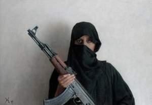 'Maia con Kalashnikov', Guillermo Muñoz Vera               ( ,  )