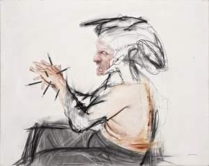 'Meditaciones sobre una pintura imposible', Jorge Arturo Cabrera ( Óleo y grafito sobre tabla, 80 x 103 cm )