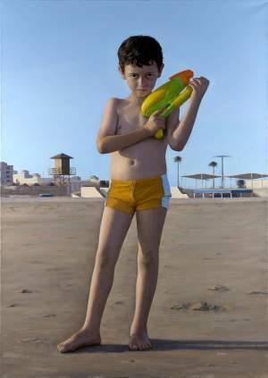 '007', José Mª Solera del Río           ( Óleo sobre lienzo, 162 x 114 )
