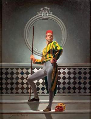 'El guardia', Juan Manuel Jaimes Roy               ( Óleo sobre lienzo, 34 x 26 )
