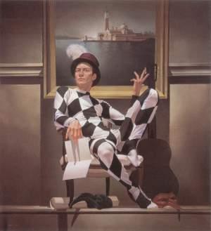 'La hoja está en blanco', Juan Manuel Jaimes Roy               ( Óleo sobre lienzo, 130 x 120 )