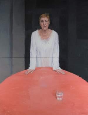 'Mi madre Cheres', Felipe Alonso Xoubanova ( Óleo sobre lienzo, 189 x 145 cm )