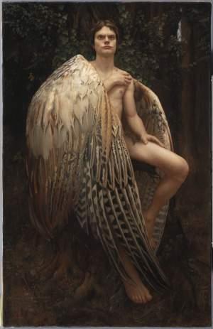 'El angel caído', Arantzazu Martínez Peciña ( , 114 x 73 )