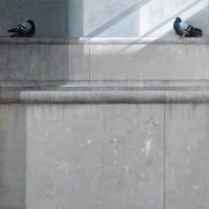 'Y una, entre luz y penumbra', Manuel Huertas Torrejón         ( , 195 x 195 )
