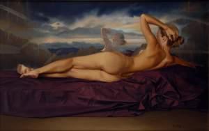 'El espejo del pasado', Manuel Hurtado Mateos           ( Óleo sobre lienzo, 116 x 73 )