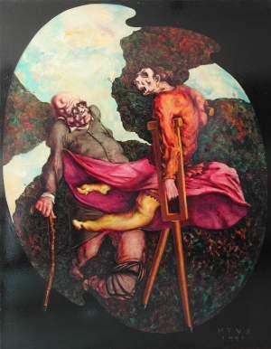 'La prima ballerina', Martí Teixidor                 ( Oli sobre llenç, 146 x 114 )