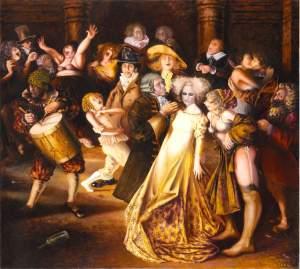 'Ronda de guasa y puterío', Martí Teixidor                 ( , 185 x 200 )