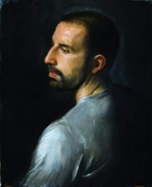 'Mattia', Matthew James Collins ( Óleo sobre lienzo, 50 x 60 cm )