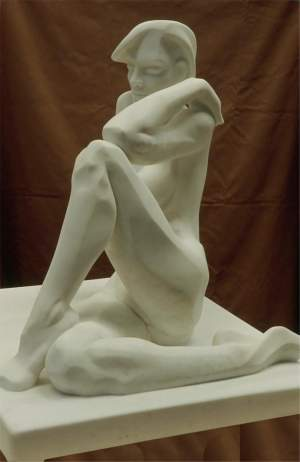 'Aida', Mer Jiménez ( Mármol de carrara, 65 x 65 x 60 )