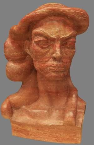 'Waltraute', Mer Jiménez ( Travertino rojo persa, 70 x 45 x 35 )