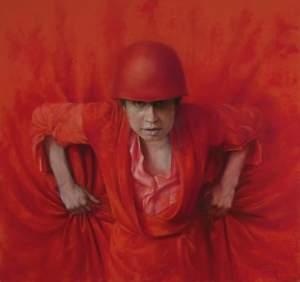'Kate', Oleg Radvan ( Óleo sobre lienzo, 81 x 86 cm )