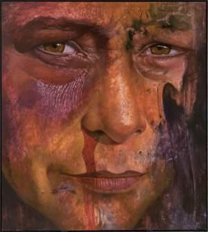'La mirada', Conrado Diaz Ruiz ( Óleo y acrílico sobre tela, 200 x 180 cm )