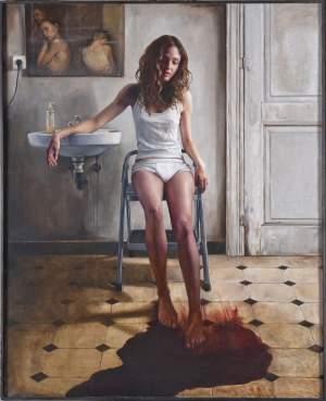 'The legend of Lilith', Carmen Mansilla ( Óleo sobre lino belga, 181 x 146 cm )