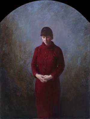 'Un retrato para Natalia', Salvador Antúnez del Cerro        ( Óleo sobre tabla, 160 x 122 cm )