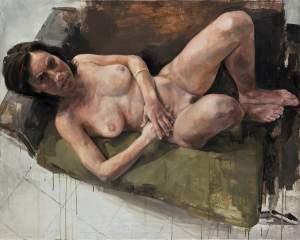 'Desnuda',  Sacris                   ( Óleo sobre lienzo, 116,5 x 146,4 )