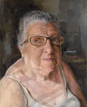 'Josefa',  Sacris                   ( Óleo sobre lienzo, 101 x 81 )