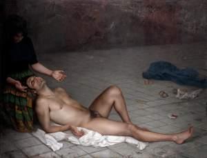'Tarde quebrada', Soledad Fernández ( Óleo sobre lino, 142  x 185 )