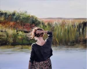 'La nuca', Susana Ragel Nieto              ( Óleo sobre lienzo, 130 x 162 )