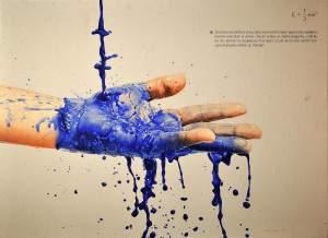 'Mano con tinte', Adriá Pina Alegre ( ,  )