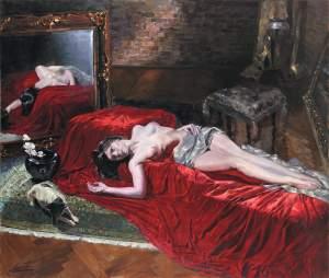 'Maja', Leskek Piotrowski               ( Oli sobre llenç, 170 x 200 )