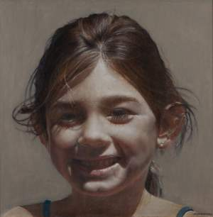 'Smile', Jesús Nieto Pantoja ( oil on canvas, 116 x 116 )