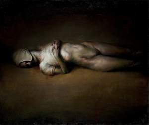 'A body', Abel Segura ( Oil on wood, 122 x 145 )
